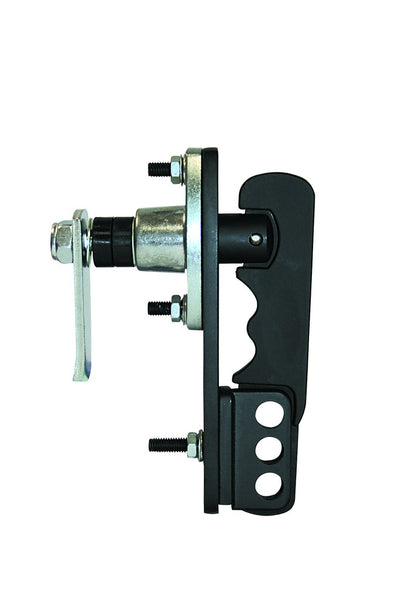PADLOCKABLE TRIPLE SAFETY LEVER LOCK. 17MM