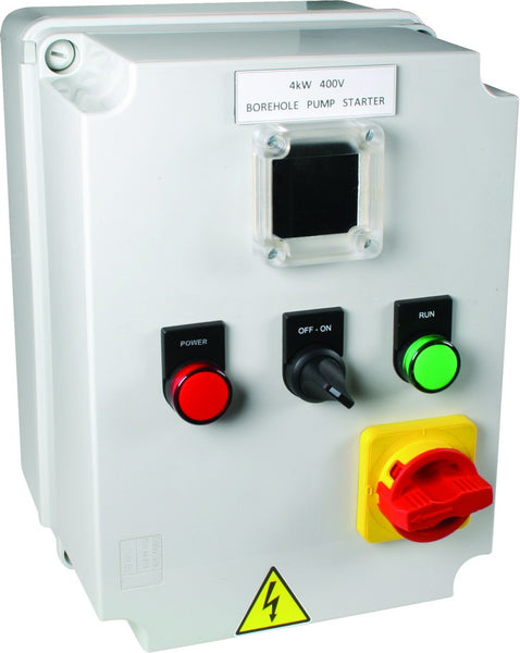 5.5kW 400V BOREHOLE SOFT STARTER GREY POLY IP56 230V CONTROL