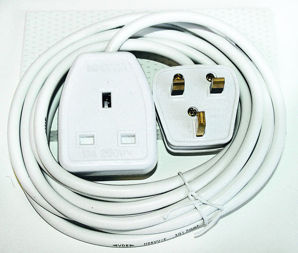 20M WHITE EXTENSION CORD I3A BRITISH SINGLE JANUS
