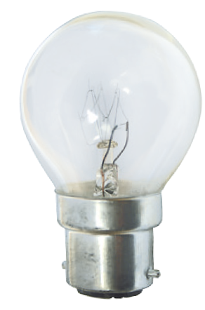 B22 15W YELLOW GOLF BALL LAMP 230V