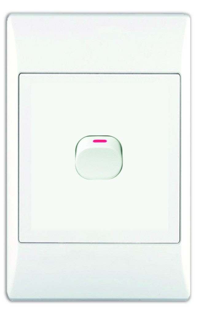 1 LEVER WAY SWITCH 2x4 C W WHITE COVER PLATE