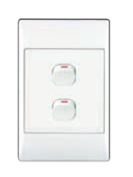 2-LEVER 2-WAY SWITCH 2x4 C/W WHITE COVER PLATE