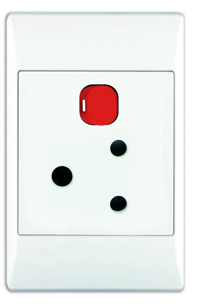 1X16A DEDICATED WHITE SWITCHED SOCKET OUTLET 2x4