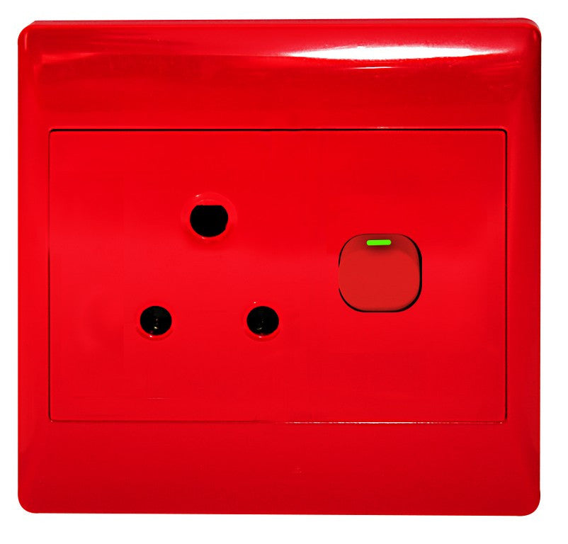 1X16A DEDICATED RED SWITCHED SOCKET OUTLET 4x4