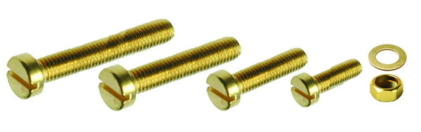 MACHINE SCREWS - CHEESE HEAD BRASS M5 X 12