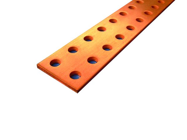 COPPER BAR DOUBLE PERFORATED 100X5X1750MM