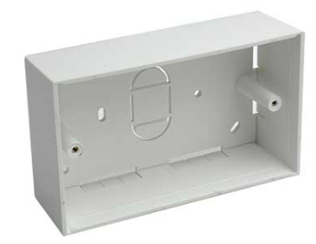 SURFACE MOUNT 6X3 WALL BOX. 145X85X44MM