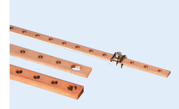 COPPER BUSBAR 45x10x300L PLATED AND THREADED 15xM12