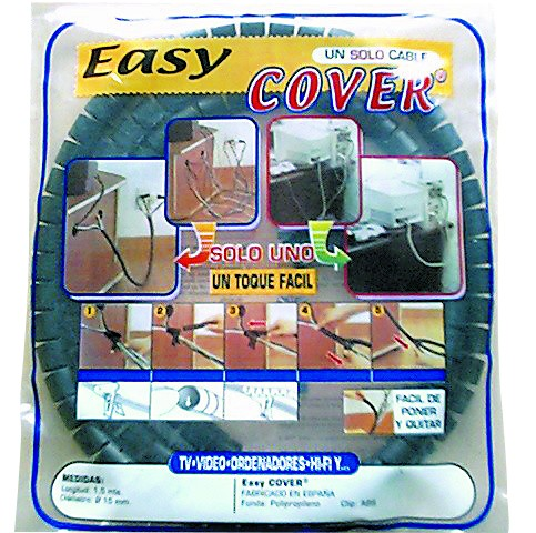 20MM BLACK EASY COVER. 2M POLYBAG
