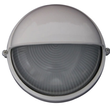 230VAC 12W BLACK LED EYELID BULKHEAD (6000K) 240MM DIA. IP54