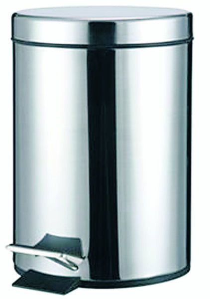 S/STEEL PEDAL BIN 30LITRE 290MM DIA X 655MM HIGH