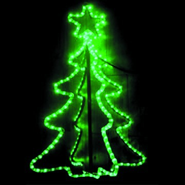 MOTIF 3-D 720x440MM GREEN xMAS TREE