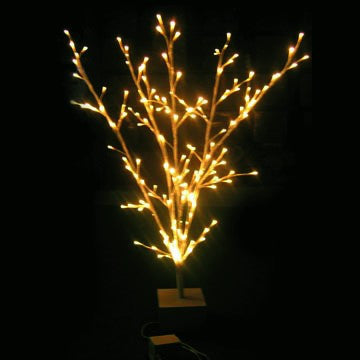 MOTIF 3-D 1200MM(H) YELLOW BRANCH X-TREE