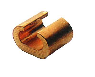 BRASS C CRIMPING SLEEVE 10+10/100