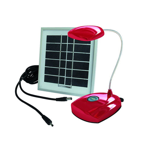 0.6W SOLAR RED  LAMP HOME LIGHT KIT C/W 1.5W SOLAR PANEL