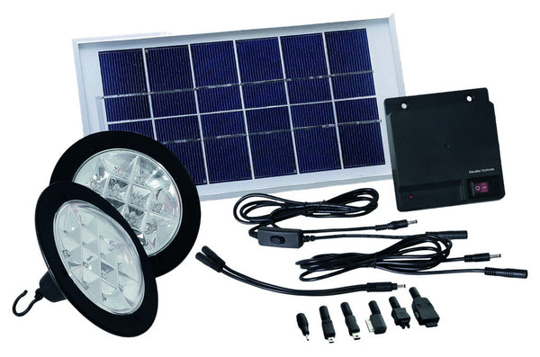 SOLAR POWERPACK JUNIOR 2 LAMP KIT C/W 2.5W SOLAR PANEL