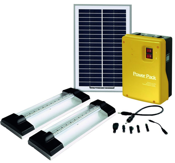 SOLAR HOME LIGHT KIT 2 x 1.5W LED LIGHT
