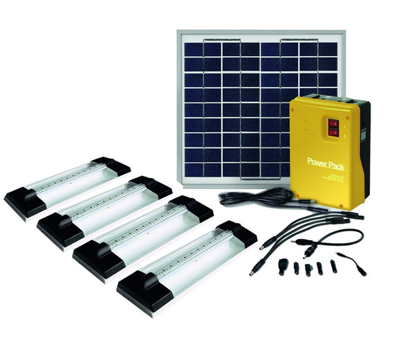 SOLAR LIGHT HOME KIT 4 x 1.5W LED LIGHT