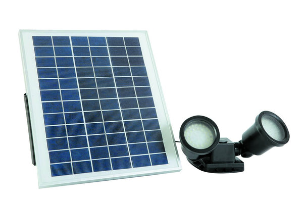SOLAR SPOT LIGHT 2 X 1.8W/ 200LM C/W 2.3W PV PANEL