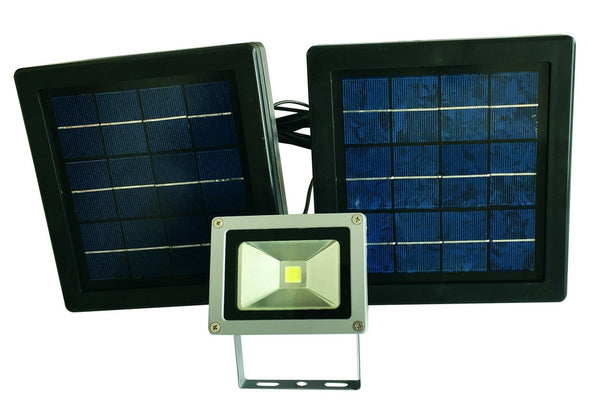 SOLAR SECURITY LED FLOODLIGHT 10W/550LM C/W 18W PV PANEL