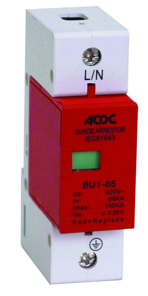 1-POLE (L) 230V 65kA PLUG-IN DIN SURGE ARRESTOR