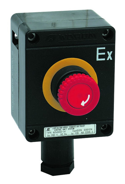 CONTROL STATION EX. PROOF EMERGENCY STOP/TWIST RELEASE