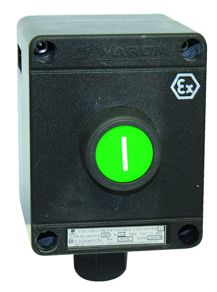 CONTROL STATION EX. PROOF START BUTTON GREEN