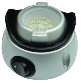 SWIVEL LED DC INT LIGHT 12-24VDC,WITH ON/OFF SWITCH,Ø80x45mm