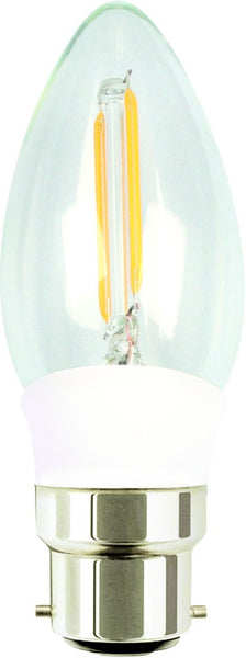 4W LED CANDLE BULB B22 BASE WARM WHITE