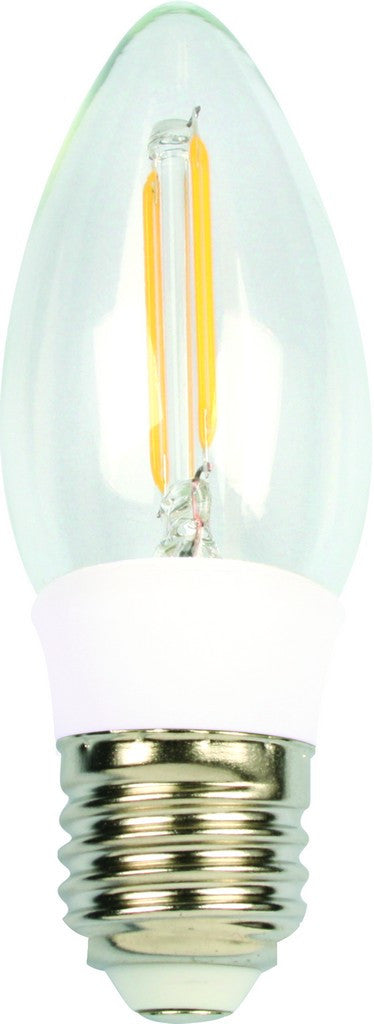 2W LED CANDLE BULB E27 BASE COOL WHITE