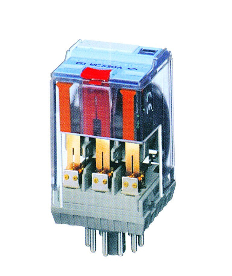 48VAC 10A 11-PIN RELAY WITH FLAG IND + TEST BUTTON