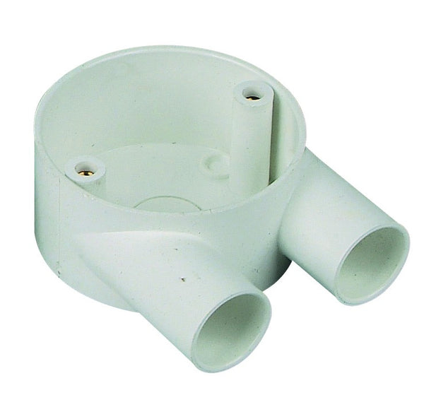 "2-WAY ""U"" CONDUIT BOX 20mm /20"