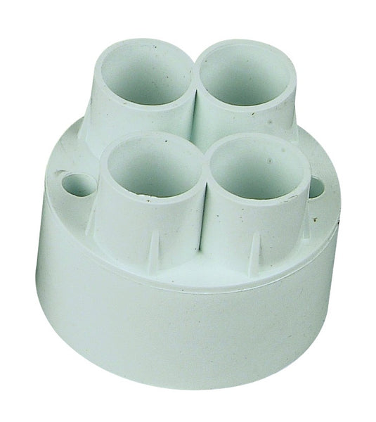 4-WAY BACK ENTRY PUSH-IN CONDUIT BOX 20mm