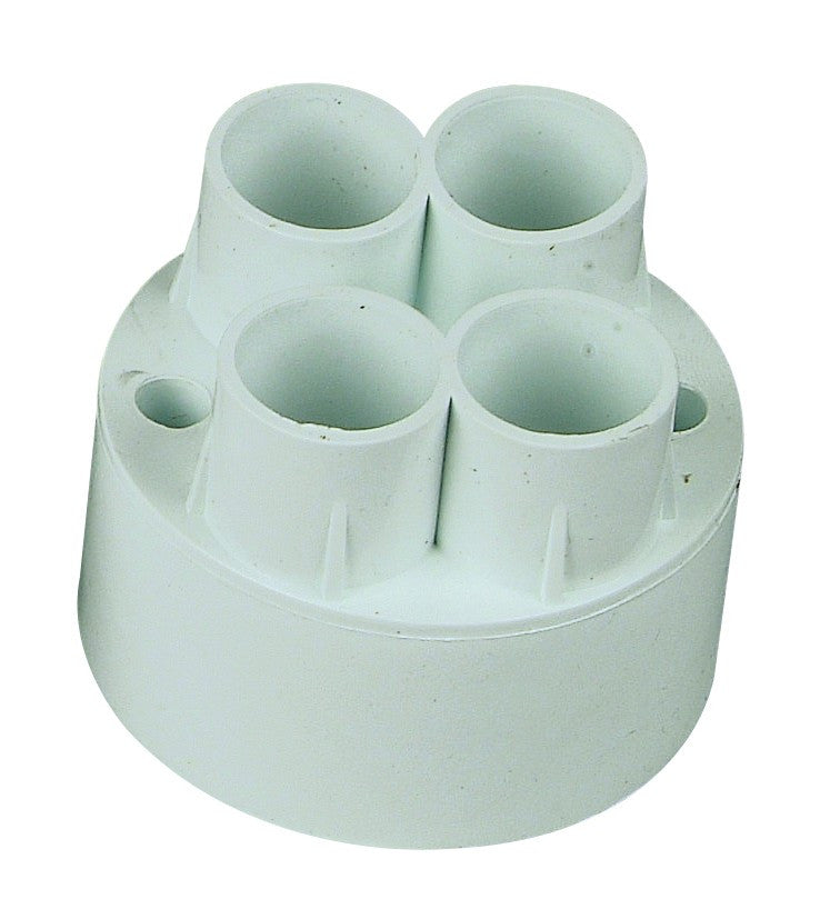 4-WAY BACK ENTRY PUSH-IN CONDUIT BOX 20mm /20