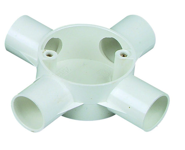 4-WAY CONDUIT BOX 25mm /20