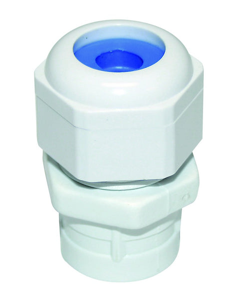 SIZE 0 CONDUIT GLAND FITTING TO 20MM CONDUIT 8MM BLUE GROMME