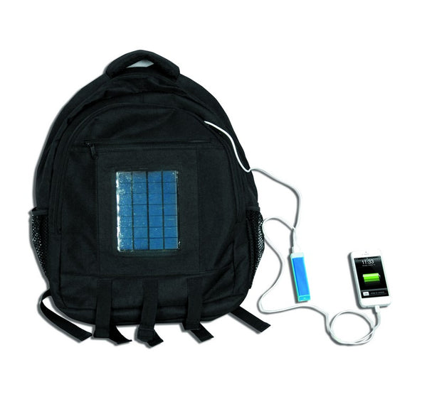 SOLAR CARRY BAG, LI-ION 1.5W BATT,C/W CELLPHONE CONNECTORS