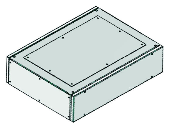 GREY SIDE PLATES (PAIR) FOR TOP COMPARTMENT 600x200
