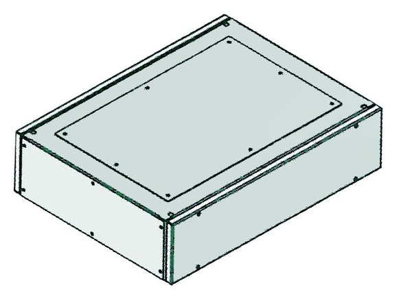GREY TOP COMPARTMENT KIT 600x600x200