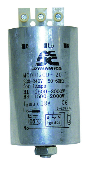 600-1000W IGNITOR FOR HPS & MH LAMP 3-WIRE
