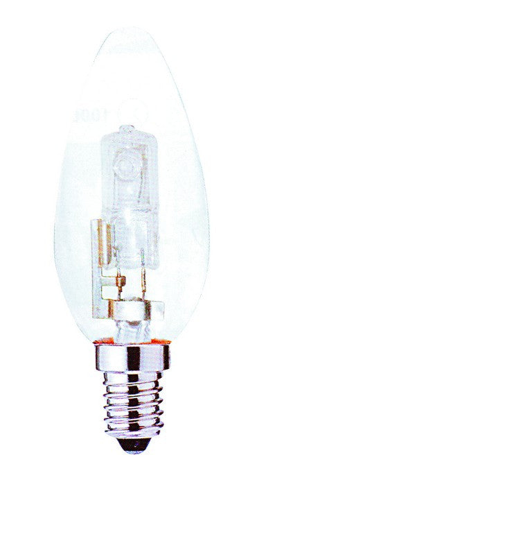 42W 230V HALOGEN CLEAR CANDLE LAMP E27