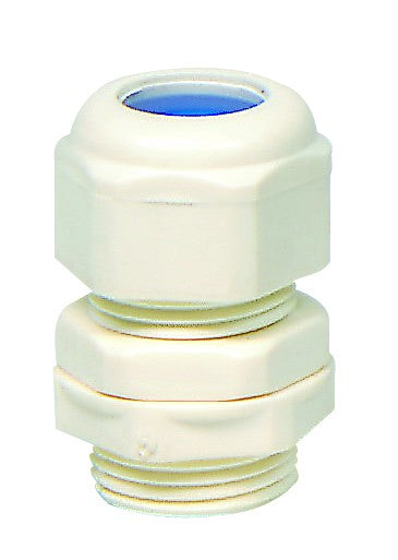 SIZE 0 WHITE PVC COMPRESSION GLAND 5-8mm CABLE