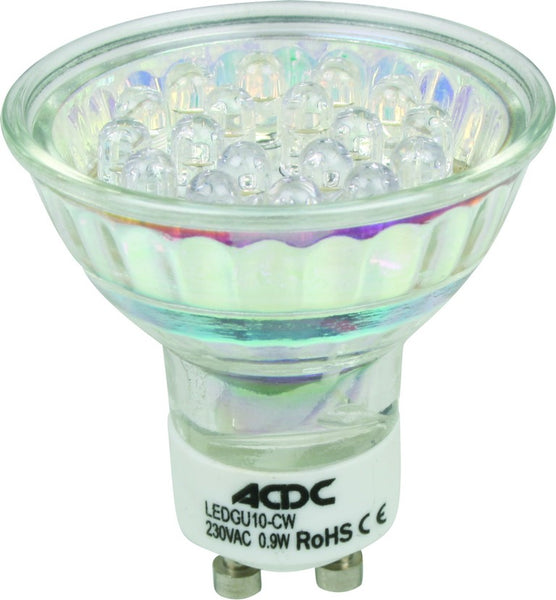 230VAC GU10 21 LED YELLOW, SEALED LAMP