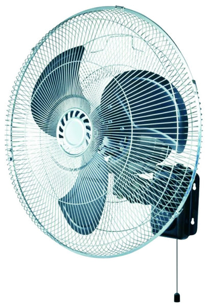 "20"" 3-SPEED WALL MOUNT OSCILLATING IND FAN + REMOTE 180W"