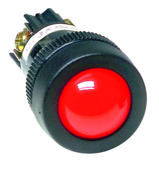 RED 12VAC/DC ECONO CLUSTER LED 22MM