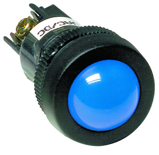 BLUE 12VAC/DC ECONO CLUSTER LED 22MM