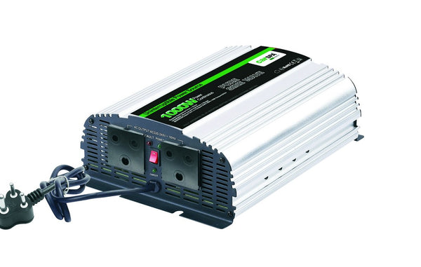 1000W PURE SINE WAVE INVERTER 12VDC:230VAC C/W CHARGER