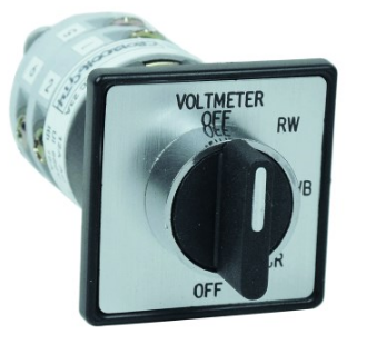 22mm DOOR MOUNT VOLTMETER SEL SWITCH 3-WIRE+OFF