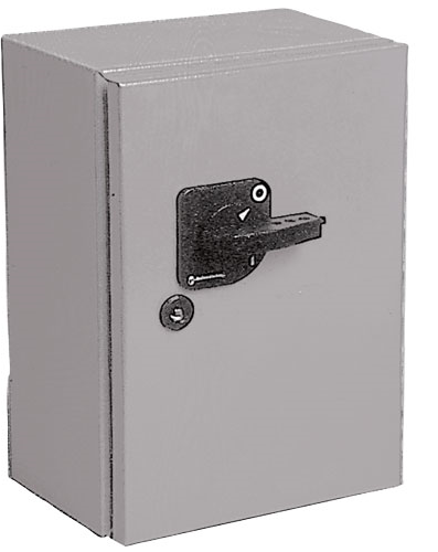 630A 3P CHANGEOVER SWITCH GREY STEEL ENCLOSED IP54