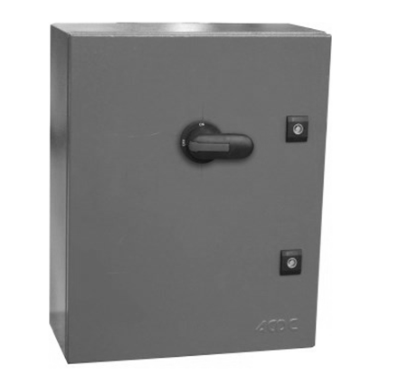 400A 3P DIN FUSED ISOLATOR ENCLOSED GREY STEEL IP54